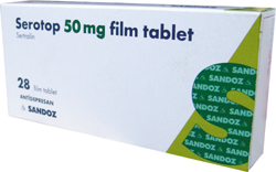 Serotop 50 mg Film Tablet